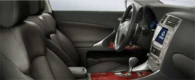 Black Perforated Leather Trim with Available Auburn Bird's-Eye Maple Accent